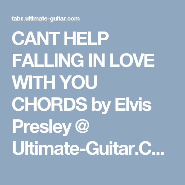 Best Cant Help Falling In Love Ingrid Michaelson Guitar Chords Image