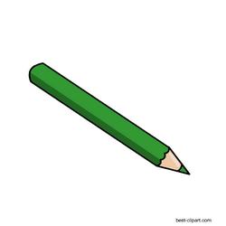 Green Color Pencil Clip Art Graphic Free Clip Art Pencil Clipart Free Clip Art