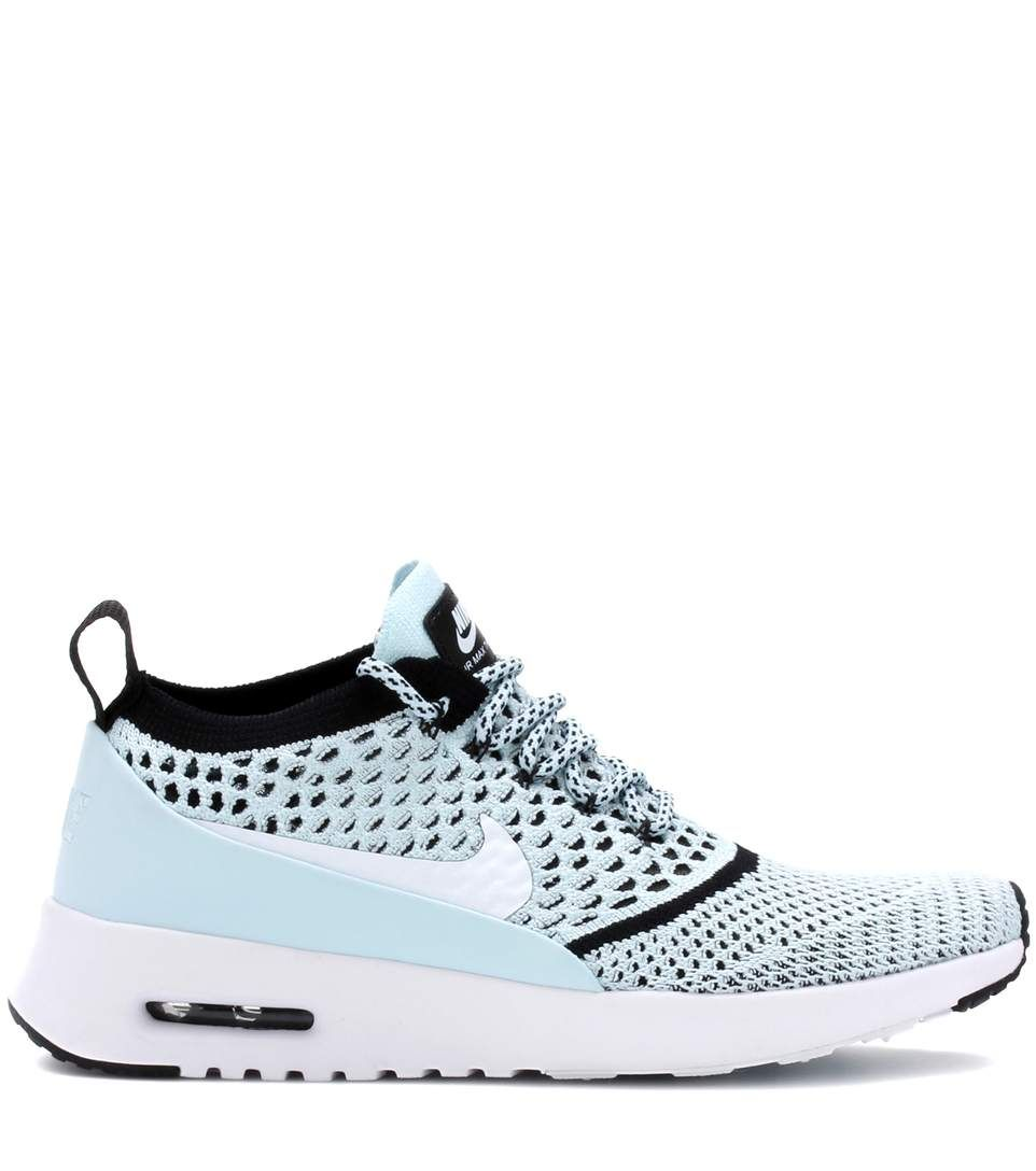 32e23dbfdcbc Nike Air Max Thea Ultra Flyknit light blue sneakers