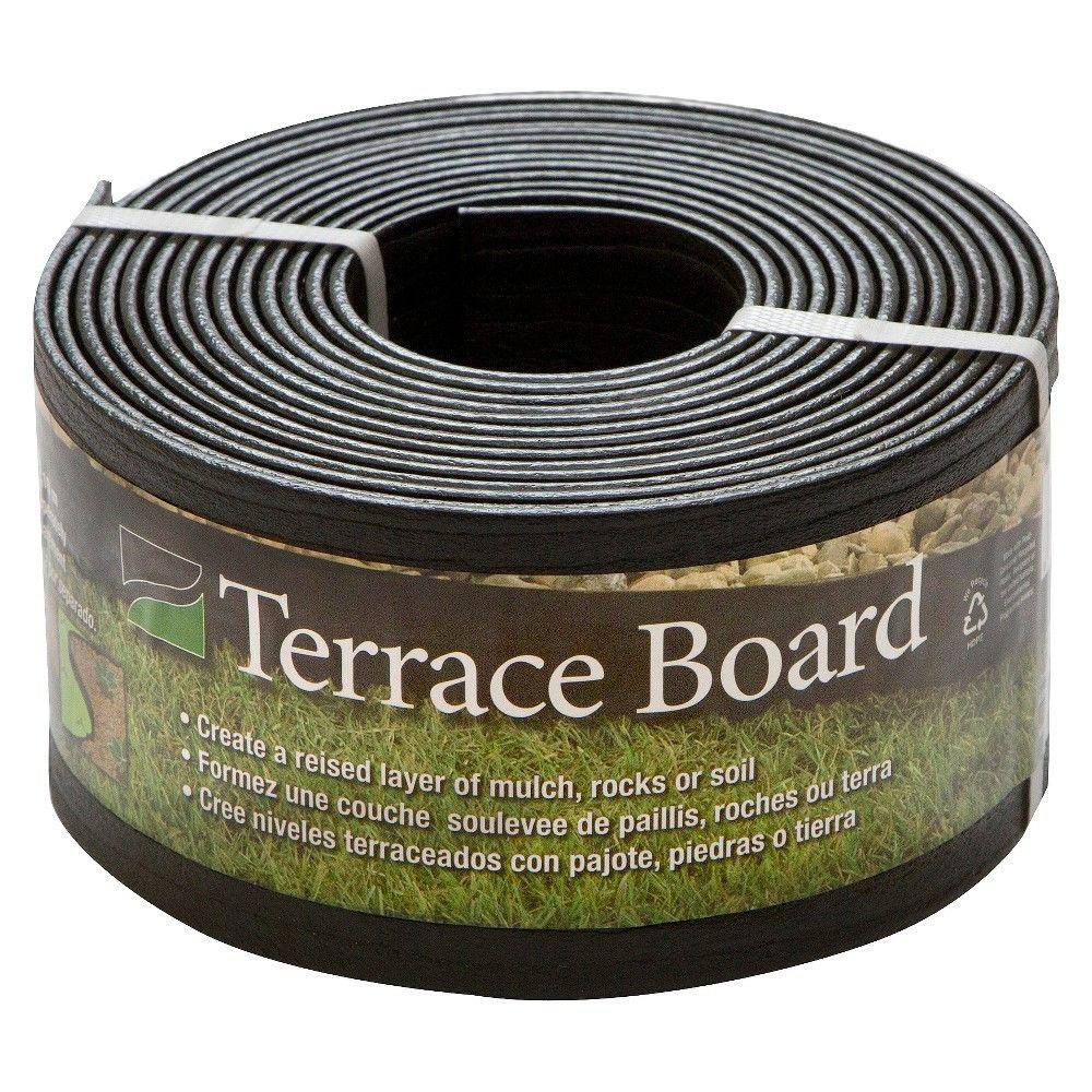 4 X 20 Terrace Board Lawn Garden Edging Black With 5 Stakes Black Master Mark Plastics Lawn Edging Landscape Edging Garden Edging