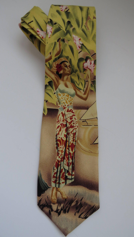 Polynesian Silk Necktie YIAD3jw