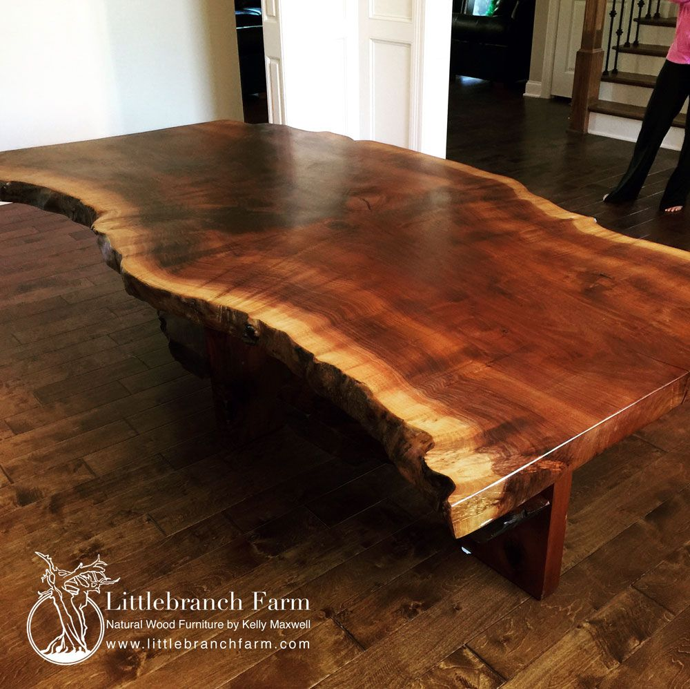 Slab Dining Room Table: Rustic Dining Table -Live Edge Dining Table