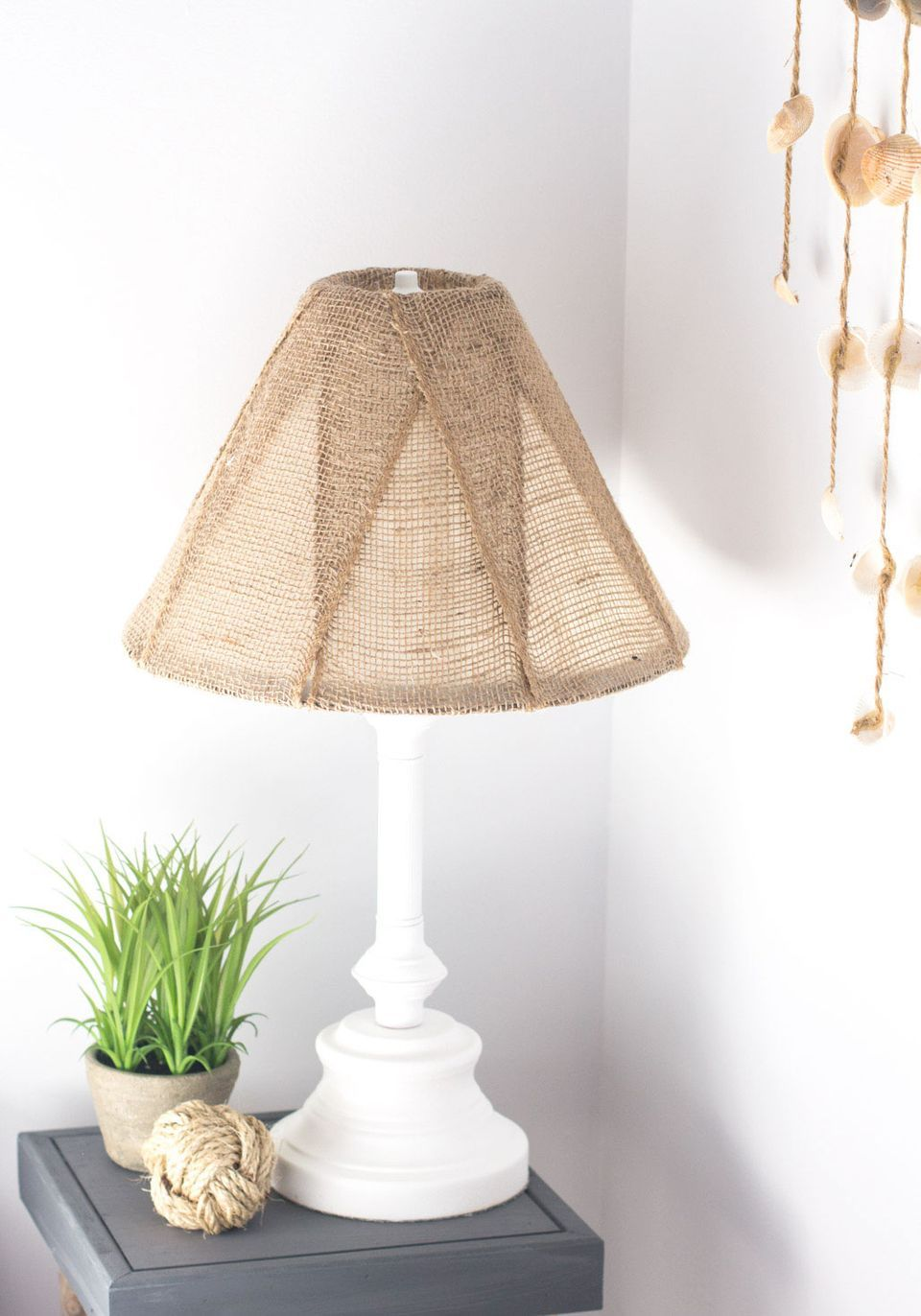 Popular Diy Projects Burlap Lampshade Lampshade Makeover Lamp Makeover