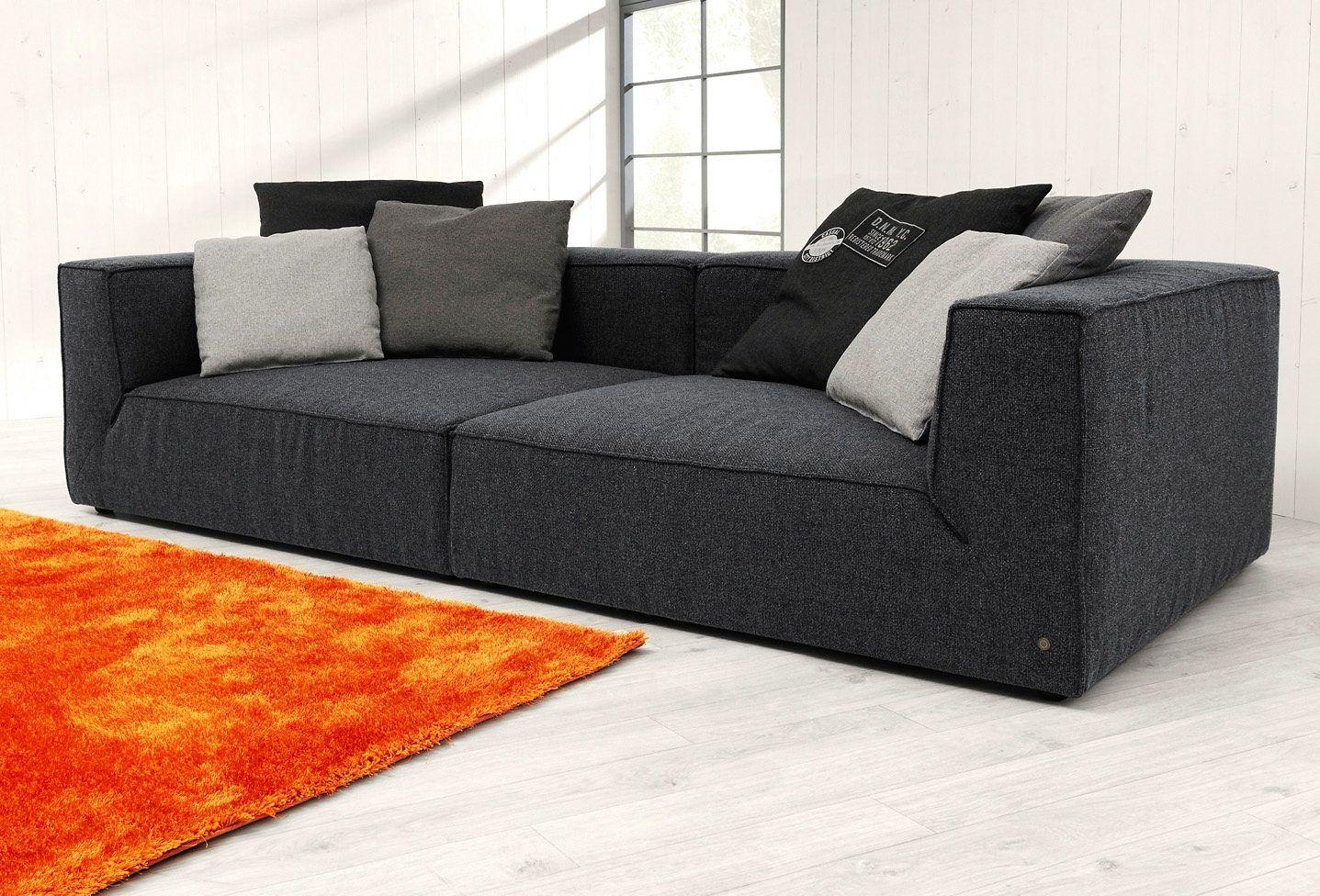 TOM TAILOR Big Sofa Schwarz, Mit Sitztiefenverstellung, Breite 270cm, »BIG  CUBE