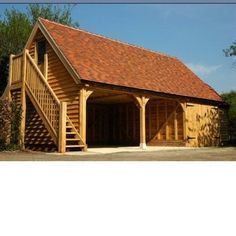 Wooden Garage Together With The Carport Can Be Built Very Quickly
