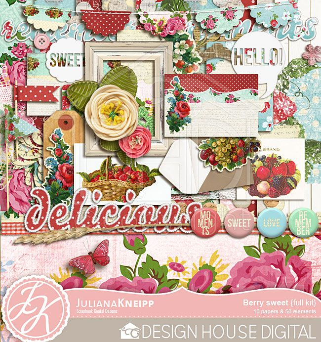"""Berry Sweet"" full kit, by Juliana Kneipp"