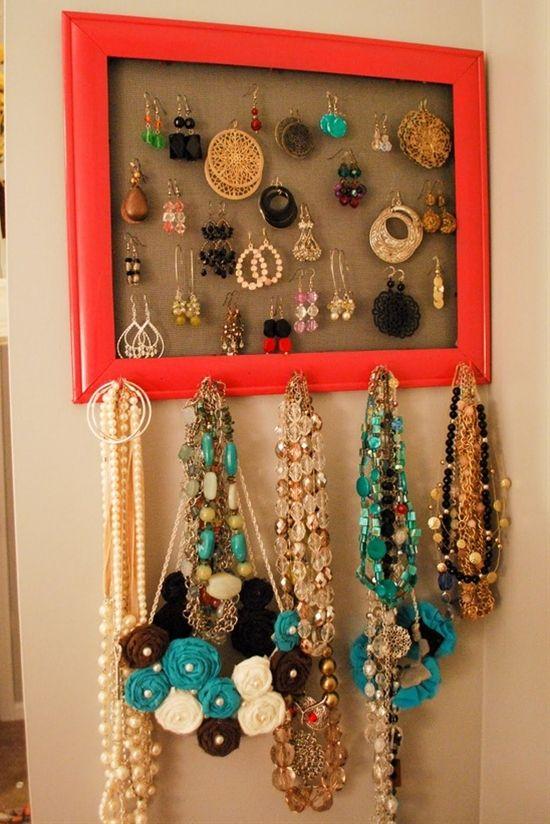 Top 10 Creative Earrings Display Ideas Diy jewelry organizer