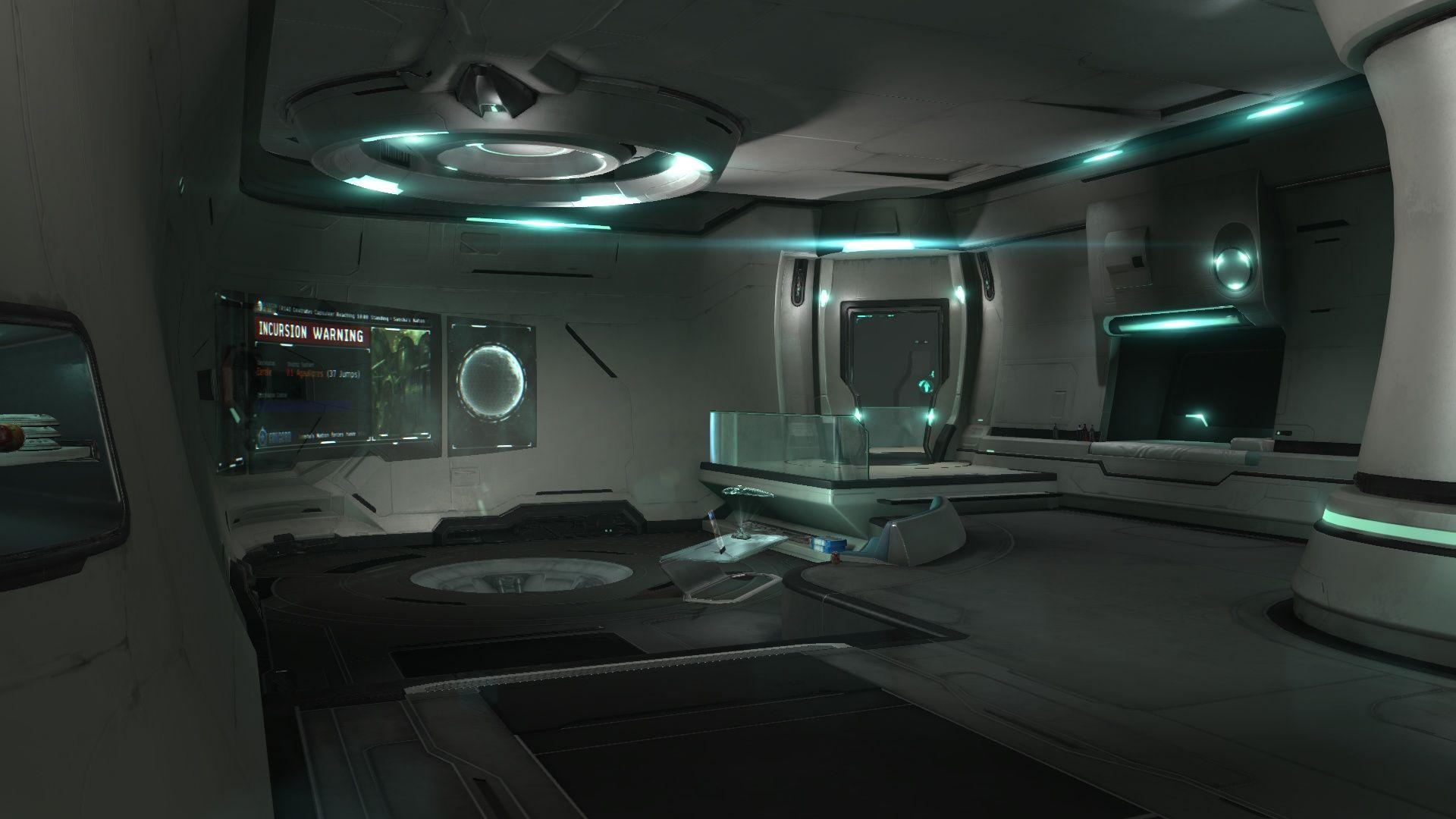 Sci Fi Ship Interior Cabin Spaceship Interior