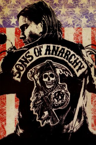 sons of anarchy logo flag tv poster print anarchy sons and flags rh pinterest com Sons of Anarchy Logo Wallpaper Sons of Anarchy Patches