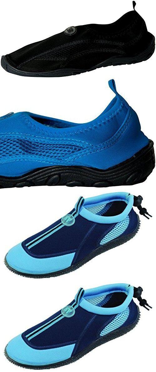 The Bay Women's Slip On Athletic Aqua Socks Water Shoes Blue 2905 6 B(M) US