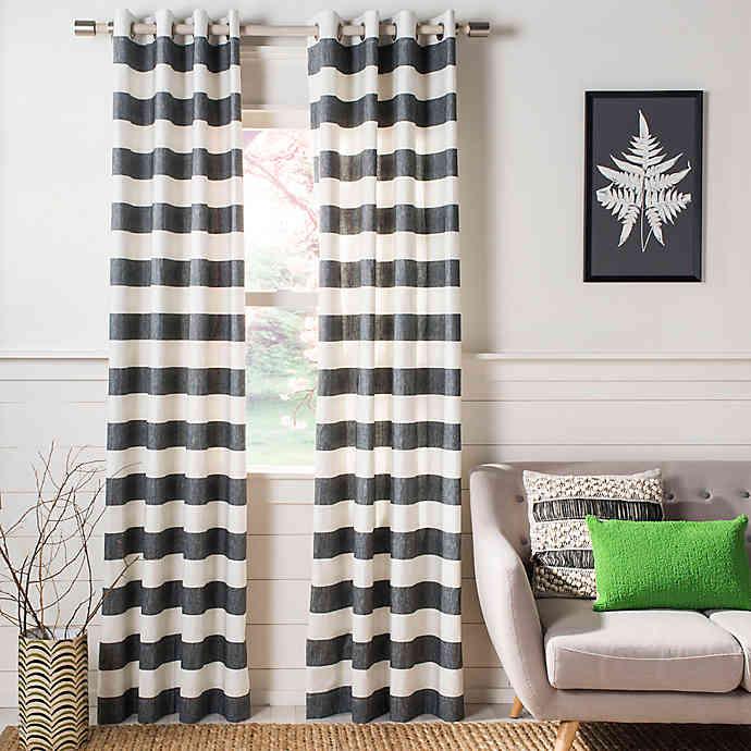 Safavieh Rafina Grommet Top Window Curtain Panel