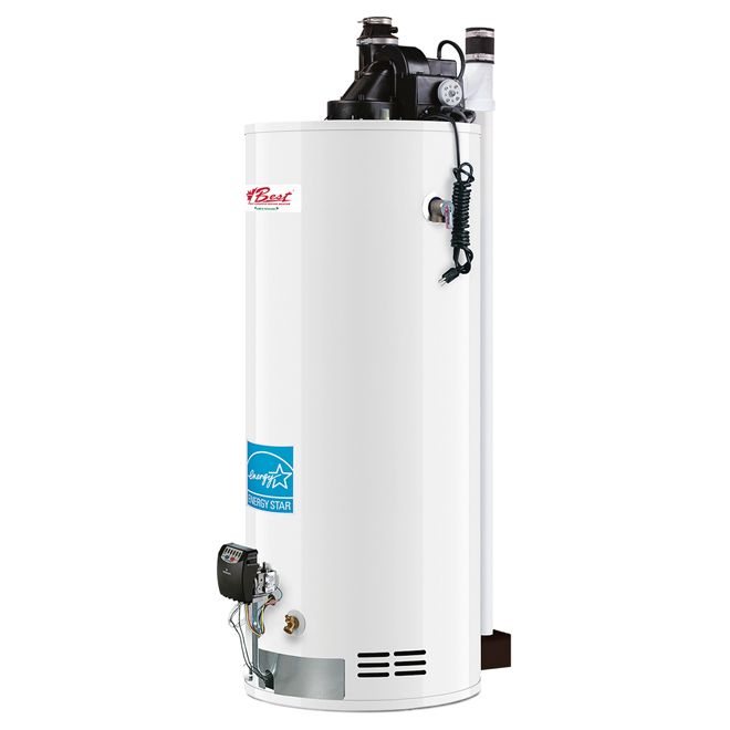 Gemco Natural Gas Water Heater 50 Gallons Gg50 38tfpdv1n2u Rona Natural Gas Water Heater Gas Water Heater Water Heater