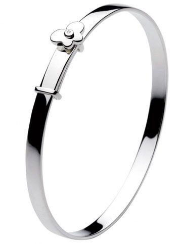 2019 Fashion 925 Sterling Silver Baby Bracelet Bangle Shower Baptism Christening Present Gift Children's Jewelry
