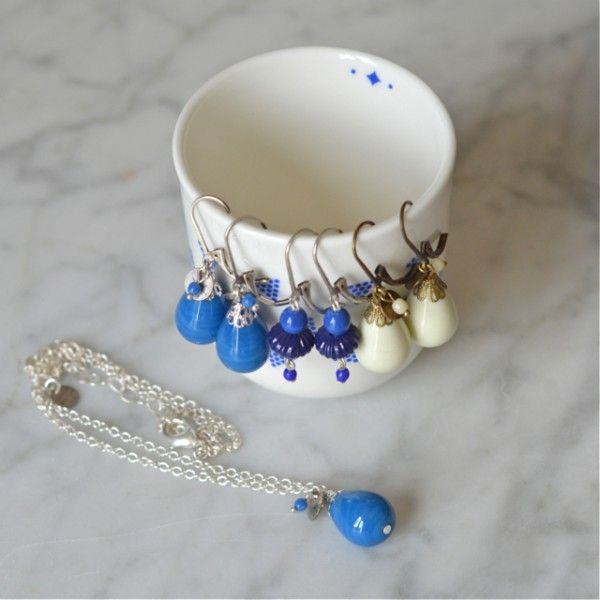 pendentif goutte bleu Camille Lescure - deco-graphic.com