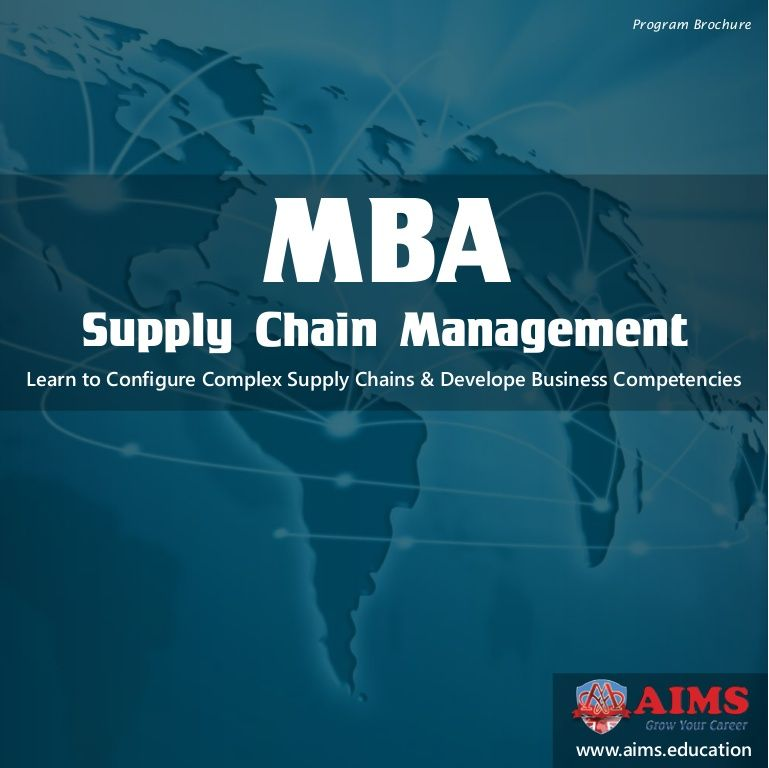 mba thesis supply chain management Supply chain management is a logical, strategic synchronization of the traditional business functions within a company and across business the aim is to improve the long-term performance of both company and the supply chain (mentzer et al, 2001.