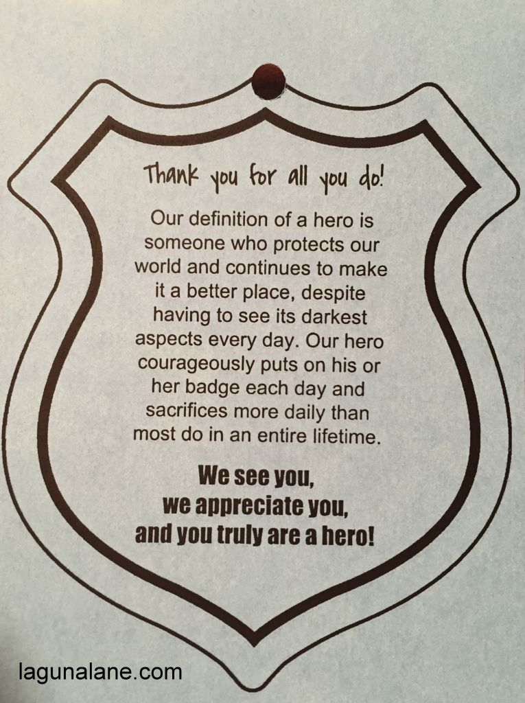 Ideas For Thank A Police Officer Day Google Search Police Appreciation Week Police Week Ideas Friendly Letter