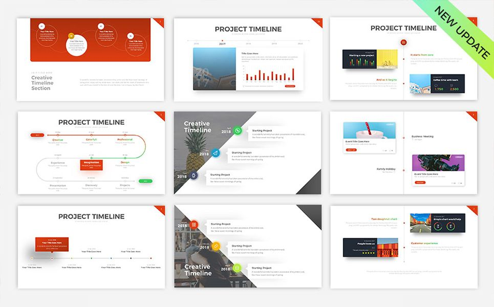 Project Timeline v5 - PowerPoint Template #PowerPoint #Timeline