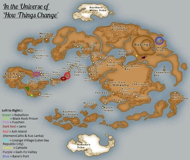Avatar the last Airbender - Marked Map for How Things Change by ~purplelex on deviantART