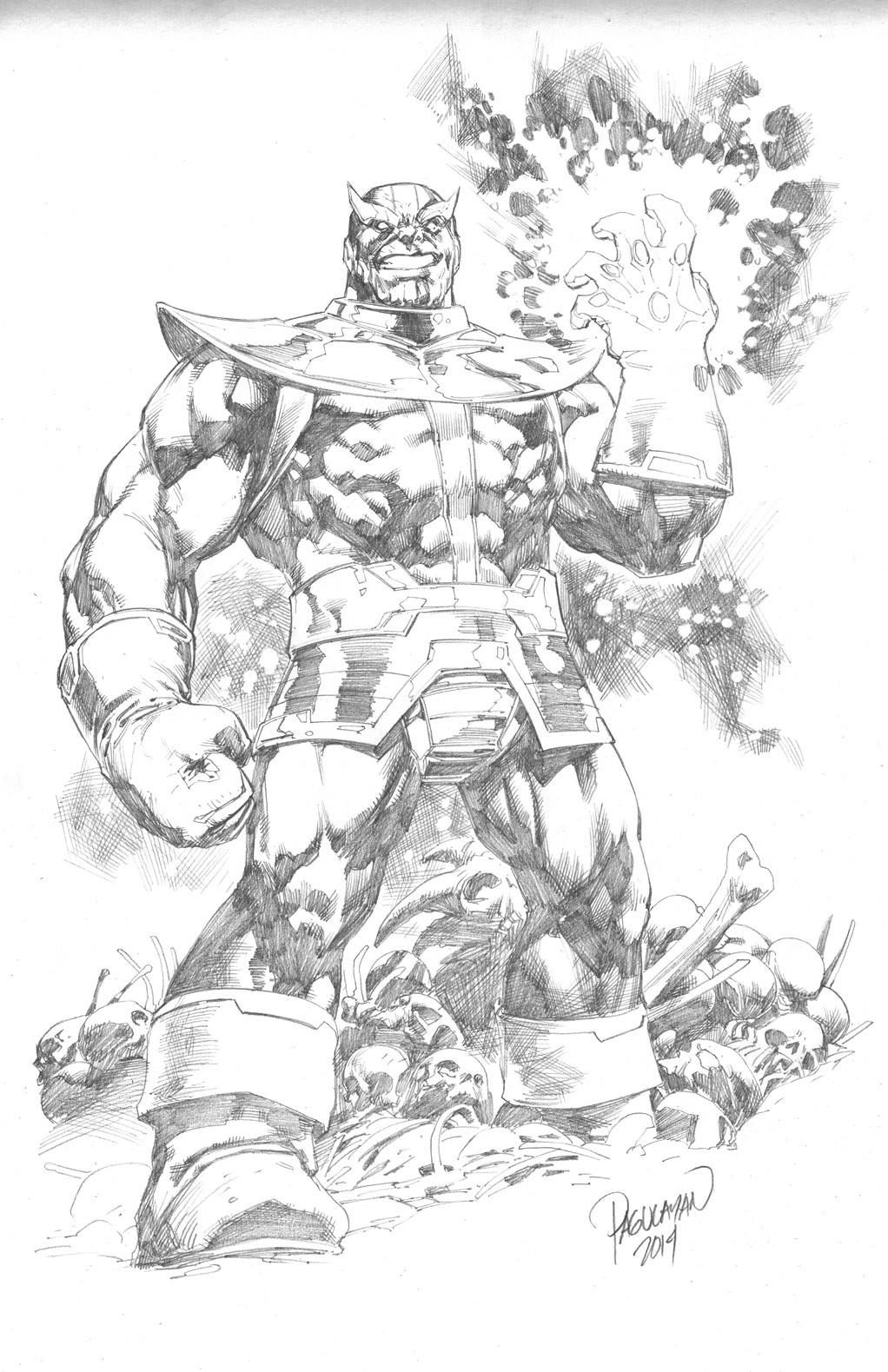 Thanos By Carlos Pagulayan Marvel Art Comic Art Sketch Comic