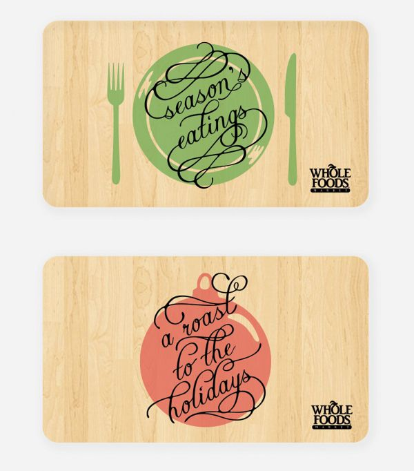 Whole Foods Holiday Gift Cards by Elaine Pham, via Behance | Graphic ...