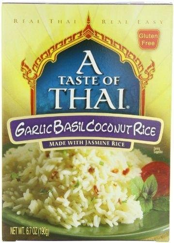 A Taste Of Thai Garlic Basil Coconut Jasmine Rice 6 7 Ounce Boxes