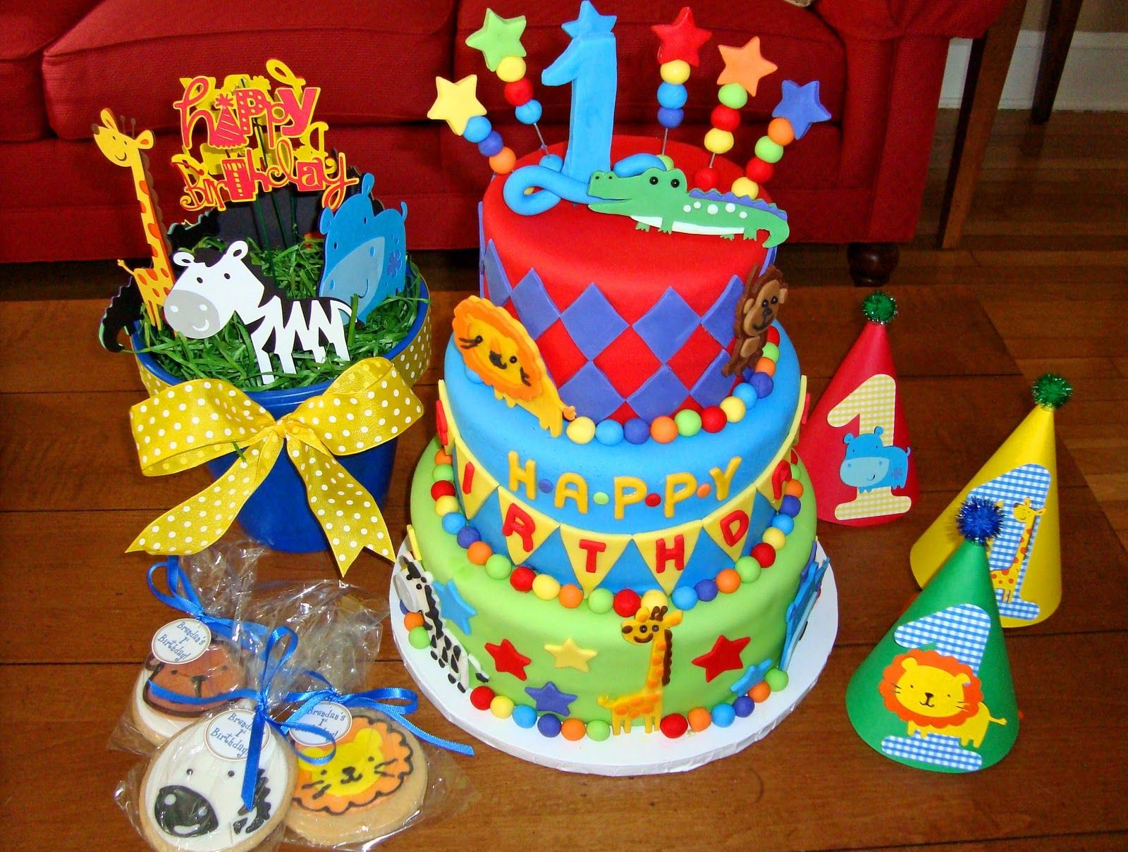 Birthday Cake Ideas For Baby S First Birthday : baby boys first birthday cakes Sugar Butter Baby: Baby s ...