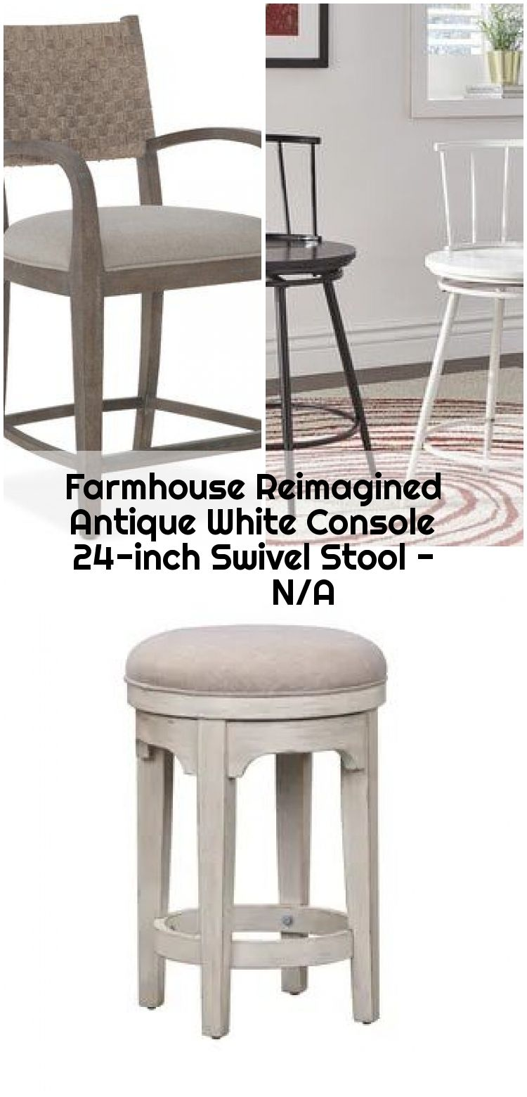 Farmhouse Reimagined Antique White Console 24 Inch Swivel Stool N A Buy Counter Bar Stools Online At Overstock Our Best Dining Room Bar Furniture Deal
