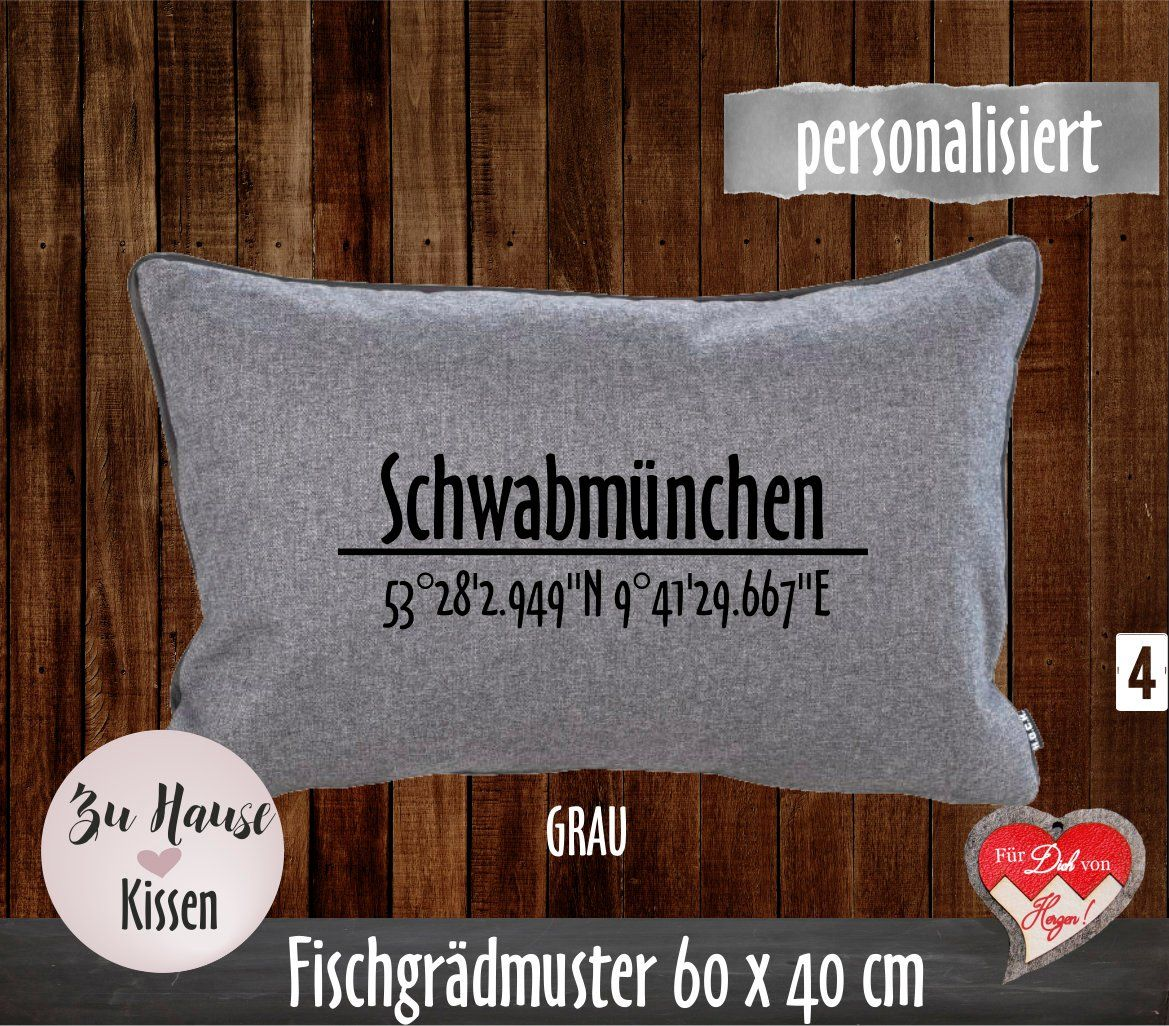 Pillow With Coordinates Personalized Pillow Pillow With City