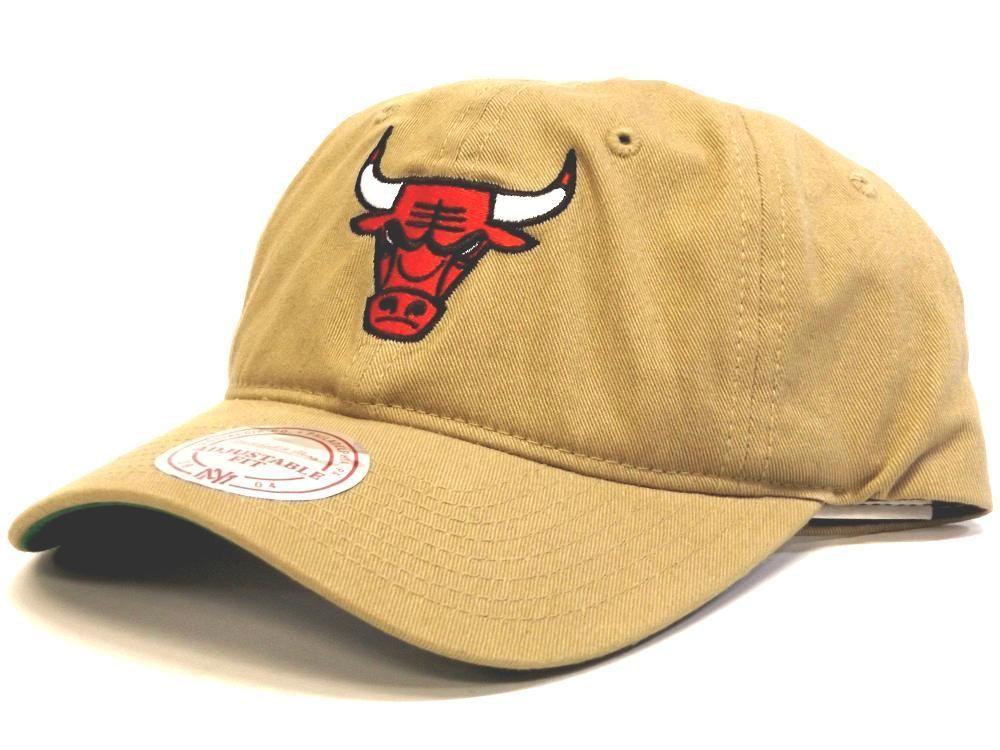 bac4fe3af2e Buy Mitchell   Ness Core Washed Cotton Logo Snapback Chicago Bulls Khaki  online – West Brothers