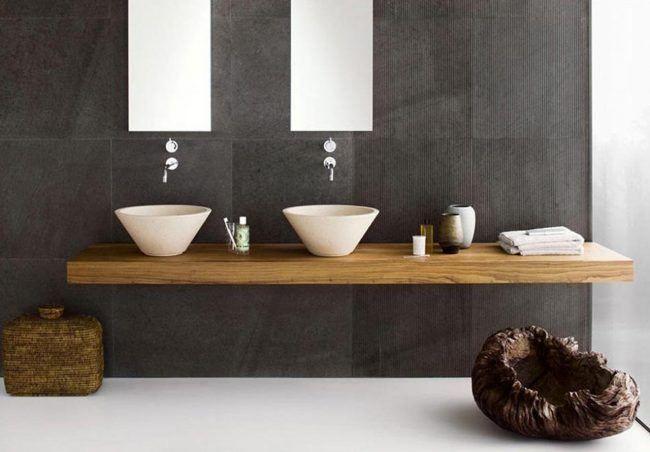 Muebles de baño modernos, pequeños y rústicos ...