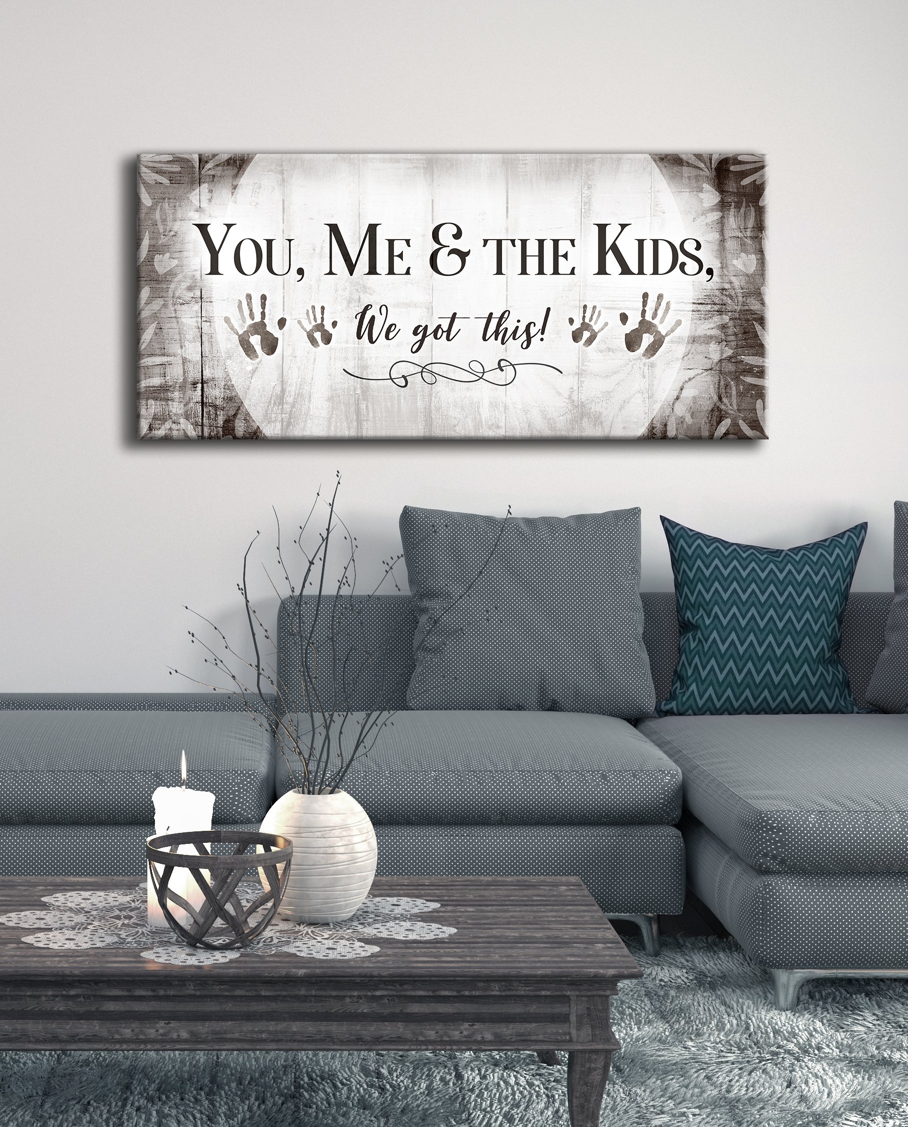 Family Wall Art You Me The Kids We Got This Wood Frame Ready To Hang Wall Decor Living Room Home Decor Family Wall Decor