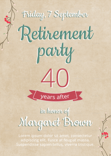 retirement party flyer template flyer templates pinterest