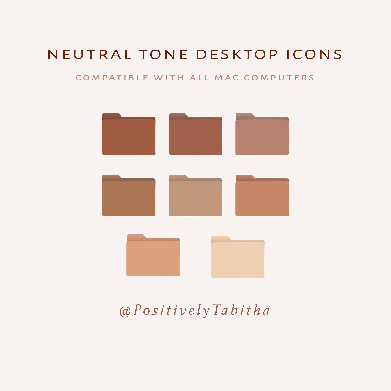 Neutral Tone Desktop Icons Instant Download Desktop Mac Etsy In 2021 Desktop Icons Folder Icon Neutral Tones