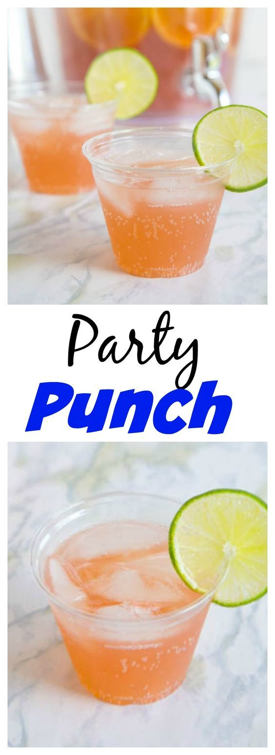 Party Punch – Just 3 ingredients to make this easy sparkling punch.  Great for parties, showers, weddings, or any get together.  Plus you can spike it for the grown ups!