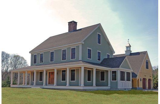 Classic Colonial W Wrap Around Porch Dream Home Pinterest Farmhouse Style House Colonial House Plans Modern Farmhouse Exterior