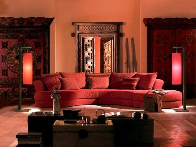Red Paint Color in Indian Themed Living Room Decor Cozy and Warm with  Indian Themed Living. Red Paint Color in Indian Themed Living Room Decor Cozy and Warm