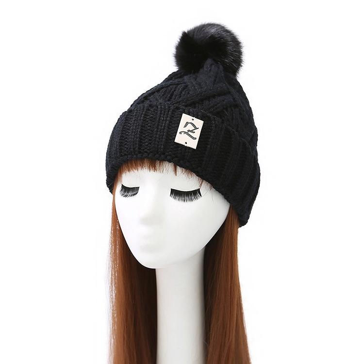 13.30$  Watch here - Warm Stylish Ladies Woman Knitted Crochet Beanie Winter PomPom Hat Cap  #magazineonlinebeautiful