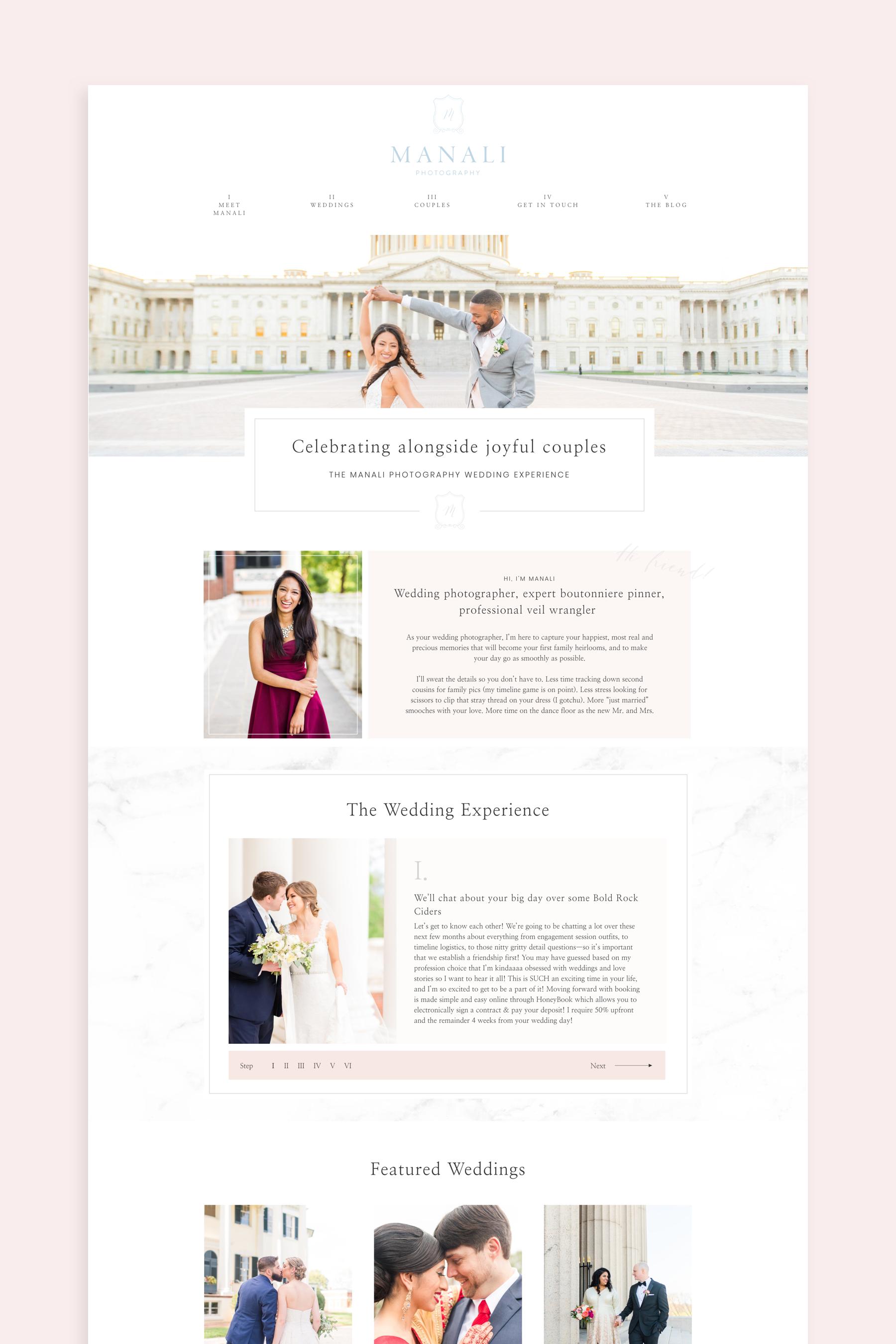 Custom Showit Web Page For Virginia Wedding Photographer Showit Webdesign Customwebsit Virginia Wedding Photographer Wedding Professional Virginia Weddings