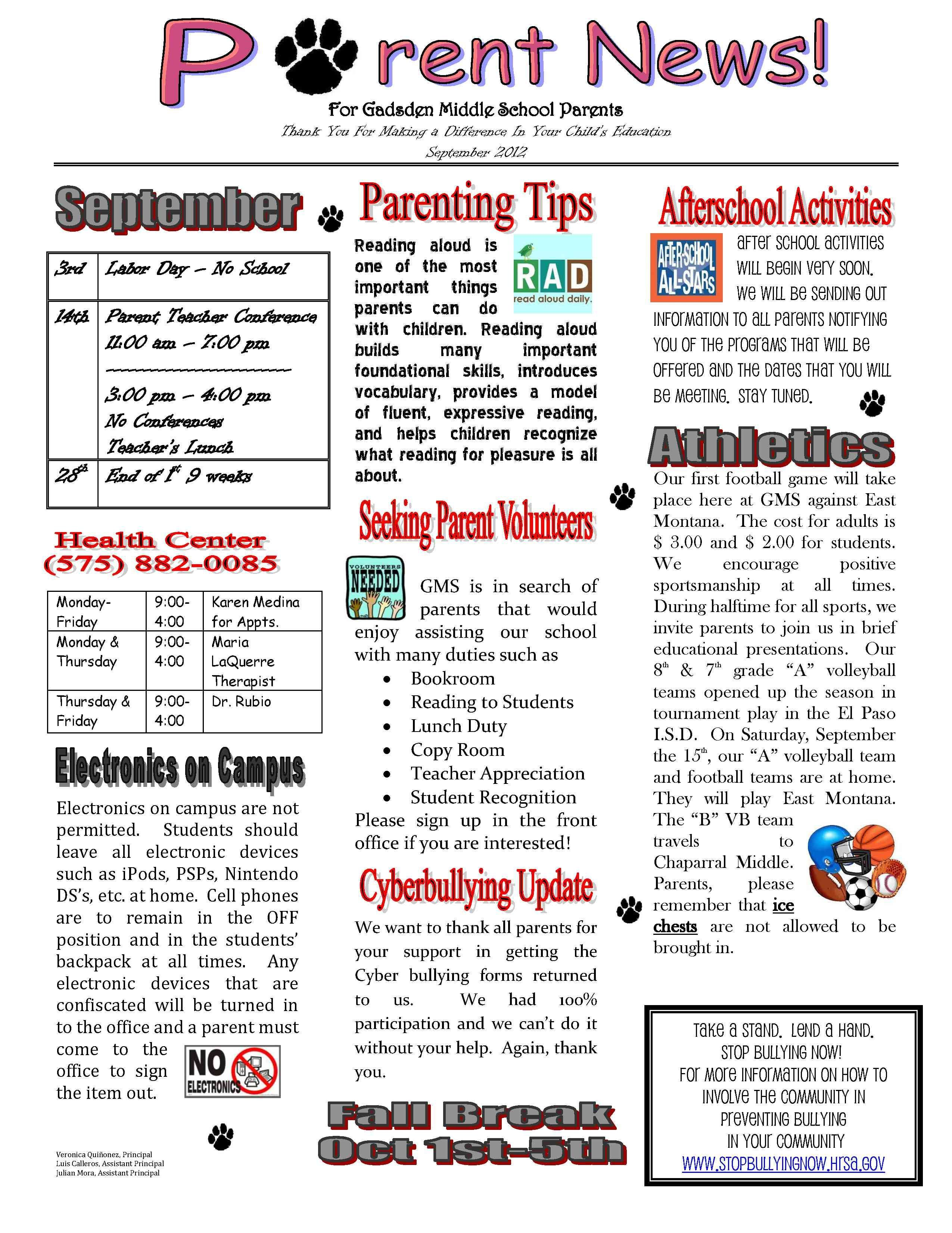 Pin By Griselda Zapata On Parent Involvement School Newsletter
