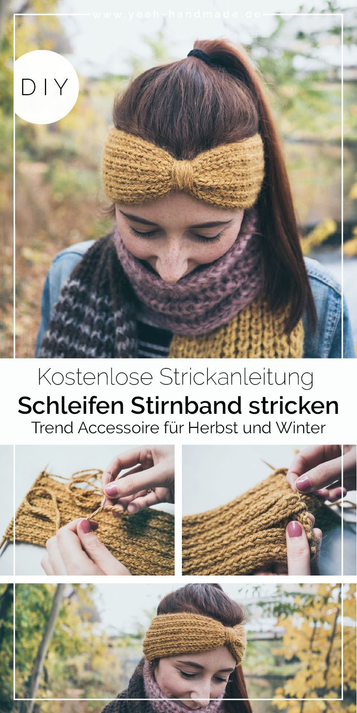 Photo of DIY Stirnband stricken: Schleife • Yeah Handmade
