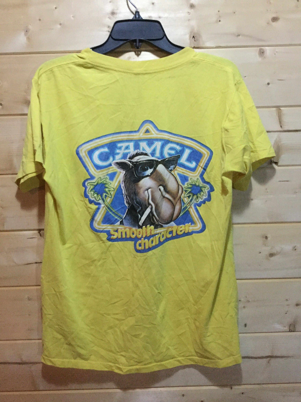 2e59b597d3a Vintage 1980 s Smoking Joe Camel pocket Shirt Made In USA Cartoon by  413productions on Etsy