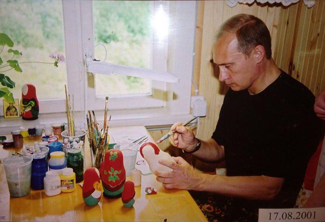 Putin making some Matryoshkas! :D   Vladimir putin, Putin ...