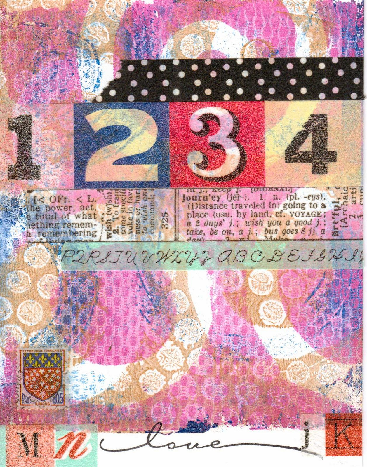 Cards made with Gelli print backgrounds | Flickr - Photo Sharing!