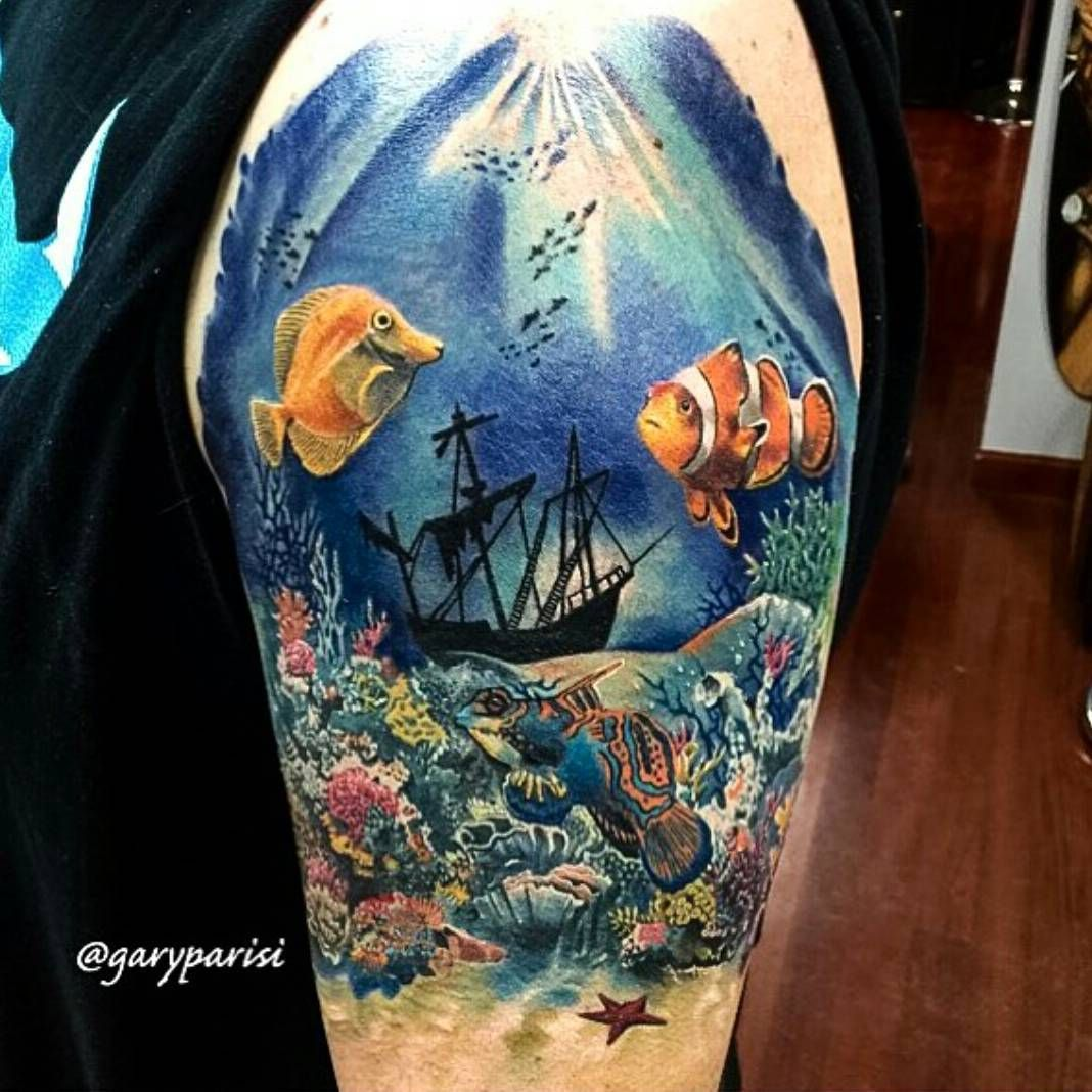 610 likes 10 comments fusion ink fusion ink on instagram killer underwater tattoo by. Black Bedroom Furniture Sets. Home Design Ideas
