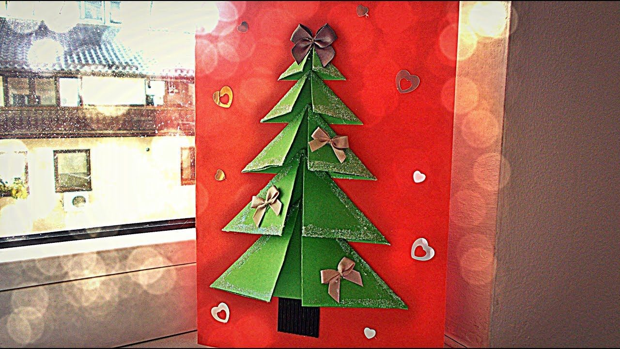 Very easy diy crafts for winter d pop up christmas tree card