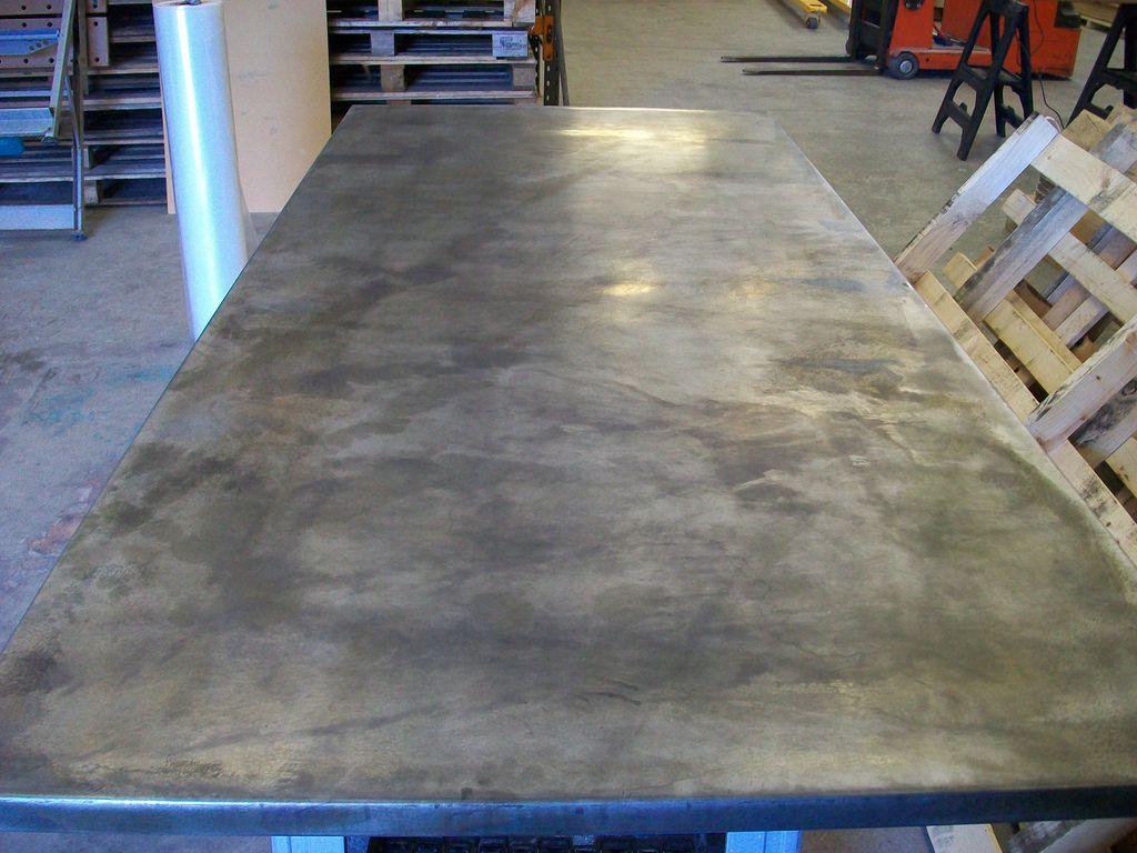 47 Zinc Top Light Patina 220cm X 100cm X 3cm Thick Metal Table Top Interior Design Portfolio Zinc Table