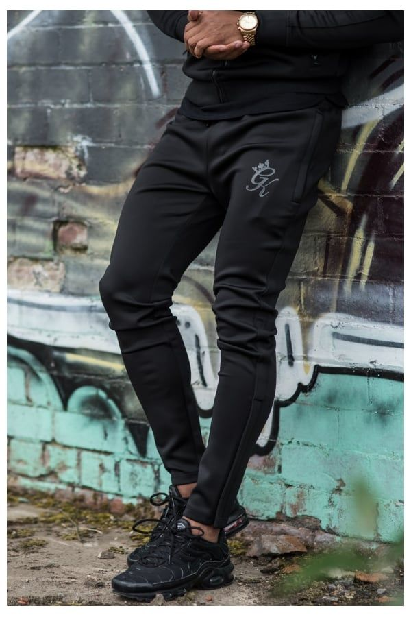 3577f0d3 Gym King Tapered Poly Tracksuit Bottoms - Black/Black in 2019 ...
