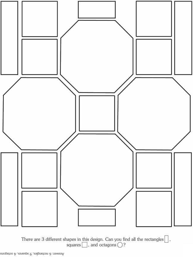 Octagon And Squares Coloring Pages Stained Glass Patterns