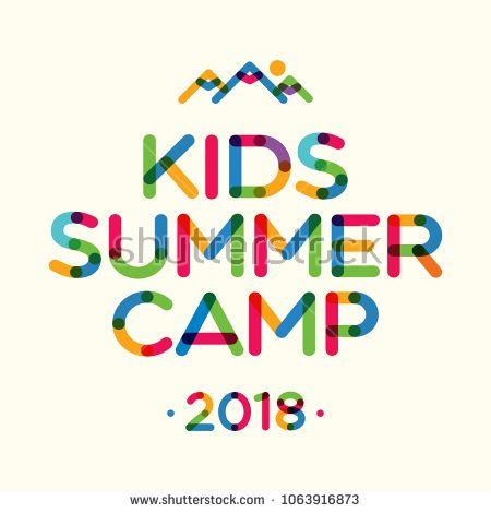 kids summer camp 2018 banner for holiday party kids camping fest