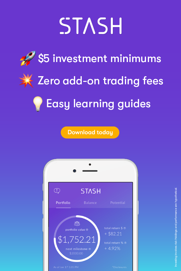 Stash Invest. Learn. Save. Investment app, Investing